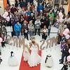 Beautiful wedding and young bridesmaids dresses