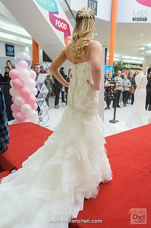 Beautiful wedding gowns on the catwalk