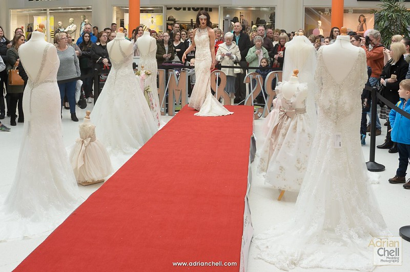 Shoppers and brides-to-be enjoying the catwalk show