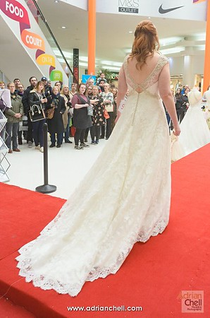 A beautiful gown with a train