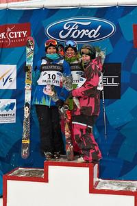 2011 FIS Freestyle World Championships Halfpipe Skiing Finals Gold: Rosalind Groenewoud, Canada Silver: Jennifer Hudak, Salt Lake City Bronze: Keltie Hansen, Canada February 5, 2011, Park City Mountain Resort Photo © Steven Kornreich