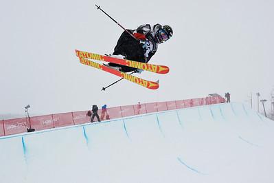 2011 FIS Freestyle World Championships Halfpipe Skiing Finals February 5, 2011, Park City Mountain Resort Photo © Steven Kornreich