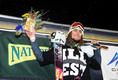 John Spriggs (Vail, CO) of Team Nordica was the Best Trick of the Night Award at the Nature Valley Big Air Challenge part of the Denver Big Air presented by Sprint. Photo: Tom Kelly/USSA