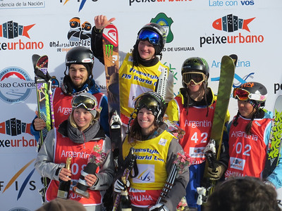 Men and women's FIS slopestyle World Cup. (Steele Spence/AFP)