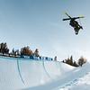 David Wise<br /> Halfpipe skiing finals<br /> 2017 Toyota U.S. Grand Prix - Freeskiing at Mammoth Mountain, CA<br /> Photo: U.S. Freeskiing