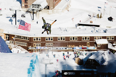 David Wise Halfpipe skiing finals 2017 Toyota U.S. Grand Prix - Freeskiing at Mammoth Mountain, CA Photo: U.S. Freeskiing