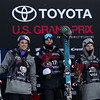 Nick Goepper, Gus Kenworthy and Evan McEachran<br /> AFP Freeski slopestyle finals <br /> 2018 Toyota U.S. Freeskiing Grand Prix at Aspen/Snowmass, CO<br /> Photo: Sarah Brunson/U.S. Ski & Snowboard