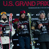 Maggie Voisin, Sarah Hoefflin and Isabel Atkin<br /> AFP Freeski slopestyle finals <br /> 2018 Toyota U.S. Freeskiing Grand Prix at Aspen/Snowmass, CO<br /> Photo: Sarah Brunson/U.S. Ski & Snowboard