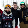 Maggie Voisin, Tiger Shaw and Skogen Sprang<br /> AFP Freeski slopestyle finals <br /> 2018 Toyota U.S. Freeskiing Grand Prix at Aspen/Snowmass, CO<br /> Photo: Sarah Brunson/U.S. Ski & Snowboard