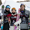 Nick Goepper, Maggie Voisin and Nick Goepper<br /> AFP Freeski slopestyle finals <br /> 2018 Toyota U.S. Freeskiing Grand Prix at Aspen/Snowmass, CO<br /> Photo: Sarah Brunson/U.S. Ski & Snowboard