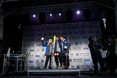 Maggie Voisin, Nick Goepper and Gus Kenworthy U.S. Ski & Snowboard Team nomination ceremony presented by Visa 2018 Toyota U.S. Freeskiing Grand Prix at Mammoth Mountain, CA Photo: Sarah Brunson/U.S. Ski & Snowboard