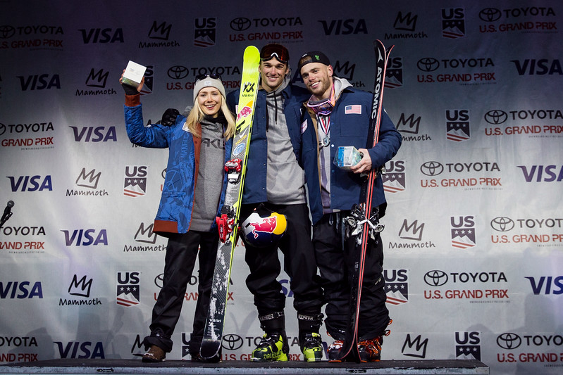 Maggie Vosin, Nick Goepper and Gus Kenworthy<br /> U.S. Ski & Snowboard Team nomination ceremony presented by Visa<br /> 2018 Toyota U.S. Freeskiing Grand Prix at Mammoth Mountain, CA<br /> Photo: U.S. Ski & Snowboard