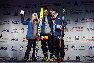 Maggie Vosin, Nick Goepper and Gus Kenworthy U.S. Ski & Snowboard Team nomination ceremony presented by Visa 2018 Toyota U.S. Freeskiing Grand Prix at Mammoth Mountain, CA Photo: U.S. Ski & Snowboard