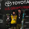 Brita Sigourney and David Wise<br /> Freeski halfpipe finals<br /> 2018 Toyota U.S. Freeskiing Grand Prix at Mammoth Mountain, CA<br /> Photo: Sarah Brunson/U.S. Ski & Snowboard