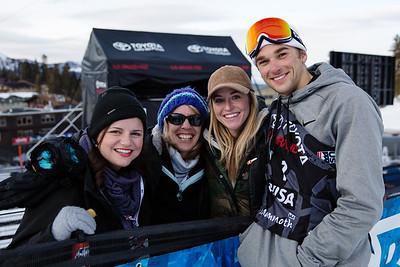 Nick Goepper and his family AFP Freeski slopestyle finals 2018 Toyota U.S. Freeskiing Grand Prix at Mammoth Mountain, CA Photo: Sarah Brunson/U.S. Ski & Snowboard