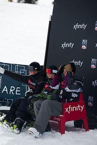 Mac Forehand, Kiernan Fagan, Ferdinand Dahl Freeski Slopestyle finals 2019 Toyota U.S. Grand Prix at Mammoth Mountain, CA Photo: U.S. Ski & Snowboard