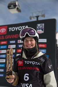Julia Krass Freeski Slopestyle finals 2019 Toyota U.S. Grand Prix at Mammoth Mountain, CA Photo: U.S. Ski & Snowboard
