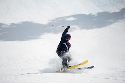 Taisei Yamamoto Freeski Slopestyle finals 2019 Toyota U.S. Grand Prix at Mammoth Mountain, CA Photo: U.S. Ski & Snowboard