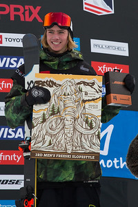 Kiernan Fagan Freeski Slopestyle finals 2019 Toyota U.S. Grand Prix at Mammoth Mountain, CA Photo: U.S. Ski & Snowboard