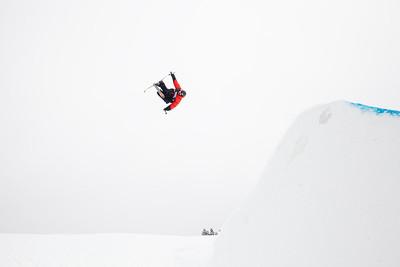 Gus Kenworthy - USA 2013 Visa U.S. Freeskiing Grand Prix at Copper Mountain, Colorado. FIS World Cup Slopestyle freeskiing finals Photo: Sarah Brunson/U.S. Freeskiing