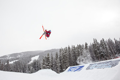 Russell Henshaw - AUS 2013 Visa U.S. Freeskiing Grand Prix at Copper Mountain, Colorado. FIS World Cup Slopestyle freeskiing finals Photo: Sarah Brunson/U.S. Freeskiing