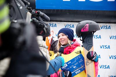 Dara Howell - CAN 2013 Visa U.S. Freeskiing Grand Prix at Copper Mountain, Colorado. FIS World Cup Slopestyle freeskiing finals Photo: Sarah Brunson/U.S. Freeskiing