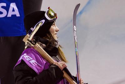 Angeli VanLaanen Halfpipe finals - Saturday 2014 Visa Freeskiing Grand Prix in Park City, Utah Photo: Sarah Brunson/U.S. Freeskiing