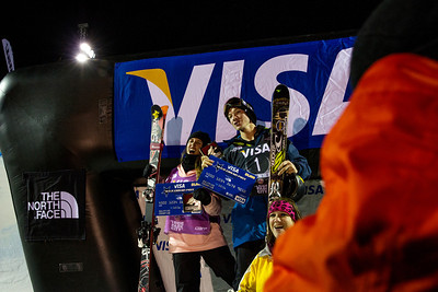 Maddie Bowman and David Wise take the national title. Halfpipe finals - Saturday 2014 Visa Freeskiing Grand Prix in Park City, UT Photo: Sarah Brunson/U.S. Freeskiing