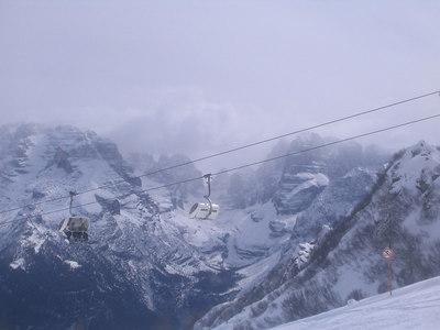 A look down the valley at Madonna di Campiglio (credit: Doug Haney/U.S. Ski Team)