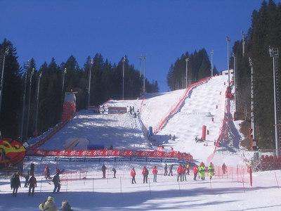 A look at both the aerials and moguls venue under full sunshine Friday morning (credit: Doug Haney/U.S. Ski Team)