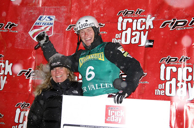 U.S. Freestyle Ski Team aerialist Jeret 'Speedy' Peterson took the Rip-It Trick of the Day, landing his 'Hurricane' to set a new world record two-jump score of 268.70 in the Nature Valley Freestyle Cup at Deer Valley Resort in Park City, Utah.
