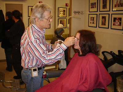 A Tonight Show makeup artist gets Emily Cook ready for her close-up.