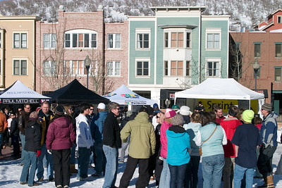 Aerial Awards, Town Lift Plaza, Sprint U.S. Freestyle Championships, aerials, Utah Olympic Park. Photo: Tom Kelly/U.S. Ski Team