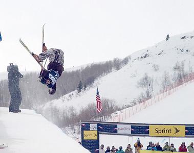 JP Solberg - Sprint U.S. Freestyle Championships, skier halfpipe, Park City Mountain Resort. Photo: Tom Kelly/U.S. Ski Team