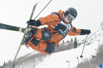 Walter Wood - Sprint U.S. Freestyle Championships, skier halfpipe, Park City Mountain Resort. Photo: Tom Kelly/U.S. Ski Team
