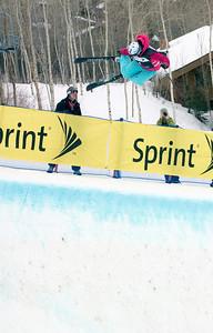 Jen Hudak - Sprint U.S. Freestyle Championships, skier halfpipe, Park City Mountain Resort. Photo: Tom Kelly/U.S. Ski Team