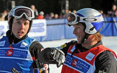 Daron Rahlves explains how Dave Duncan took him out in the Ski Cross World Cup at Cypress Mountain Olympic test event. Rahlves was disqualified. (U.S. Ski Team-Tom Kelly)