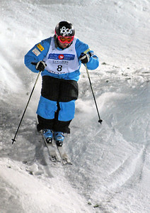 Patrick Deneen in World Cup moguls at Olympic test event at Cypress Mountain, BC. (U.S. Ski Team - Tom Kelly)