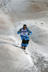 Michael Morse skis through big bumps at the bottom of the course in World Cup moguls at Olympic test event at Cypress Mountain, BC. (U.S. Ski Team - Tom Kelly)