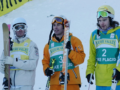 Men's Podium 2010 Freestyle World Cup in Lake Placid Photo: Garth Hager/U.S. Ski Team