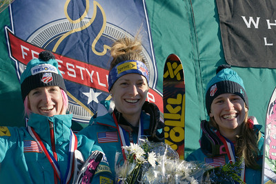 Hannah Kearney, Heather McPhie and Shannon Bahrke 2010 Freestyle World Cup in Lake Placid Photo: Garth Hager/U.S. Ski Team