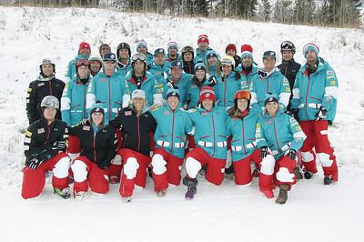 2010 U.S.Freestyle Moguls Ski Team  Photo © Brian Robb