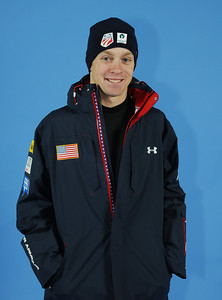Bryon Wilson models the 2010-11 Under Armour Freestyle Uniform warm-up jacket. Photo: Tom Kelly/U.S. Ski Team