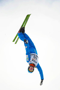 Alex Bowen soars to fourth in the U.S. Ski Team Selections NorAm at the Utah Olympic Park. (USSA/Tom Kelly)