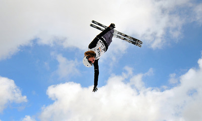 Madison Olsen falls out of the sky at the U.S. Ski Team Selections NorAm aerials at Utah Olympic Park in Park City, Utah. (USSA/Tom Kelly)