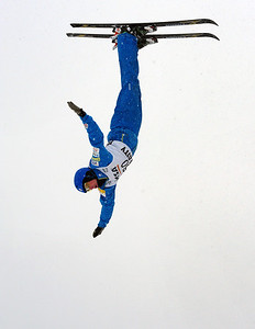 Scotty Bahrke soars to second in the opening NorAm Cup at the Utah Olympic Park. (USSA/Tom Kelly)