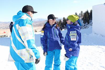 Todd Schirman, Emily Cook and Cheryl Pearson December 3, 2011 Freestyle Aerials Training Sarah Brunson/U.S. Ski Team