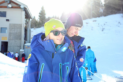 Cheryl Pearson and Dylan Ferguson December 3, 2011 Freestyle Aerials Training Sarah Brunson/U.S. Ski Team