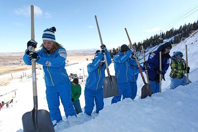 Ashley Caldwell, Dylan Ferguson December 3, 2011 Freestyle Aerials Training Sarah Brunson/U.S. Ski Team