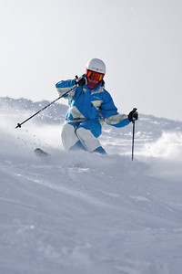 Heather McPhie 2011 U.S. Freestyle Moguls training at Wolf Creek Photo © Eric Schramm Image may be used for editorial purposes only.